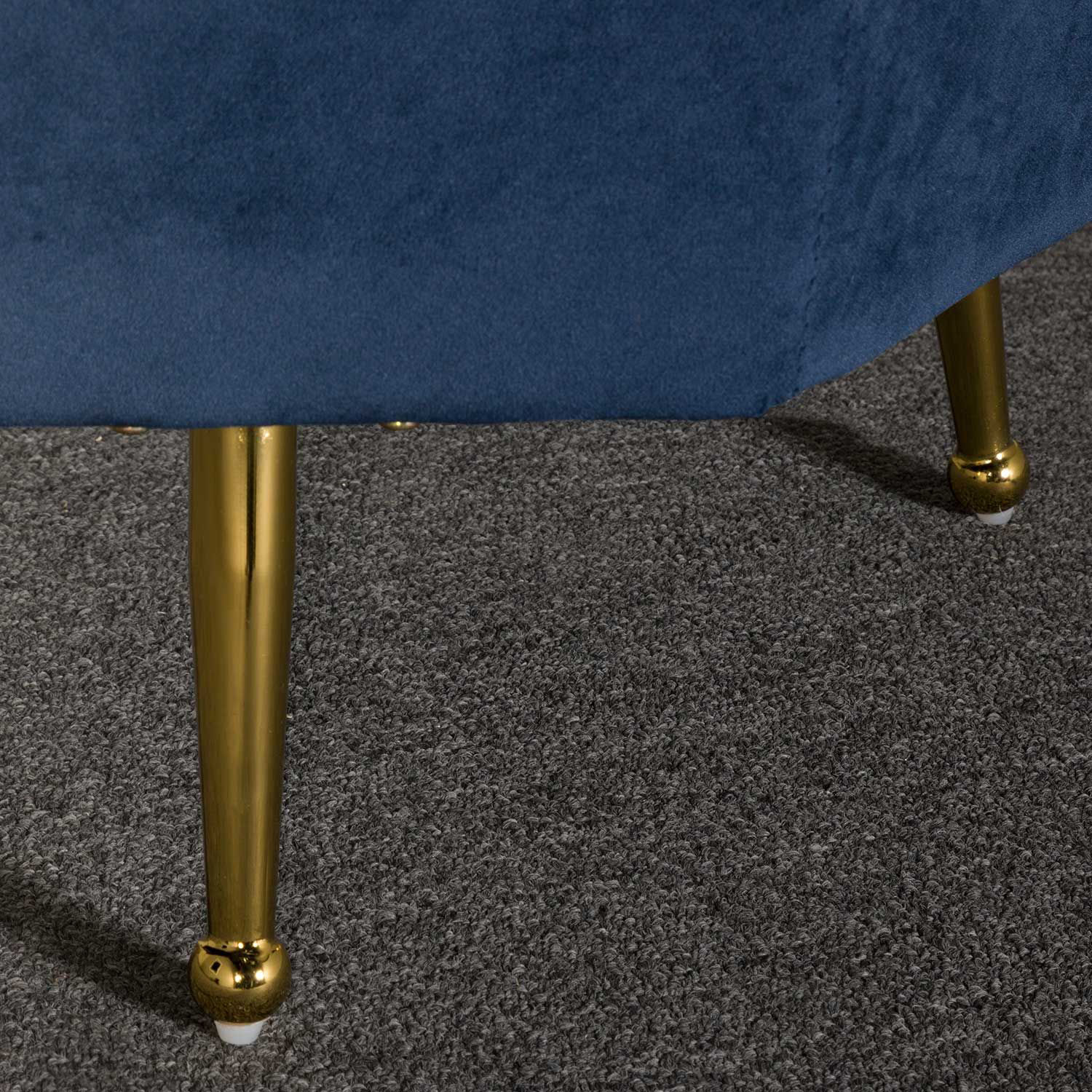 Picture of Aria Navy Tufted Storage Ottoman