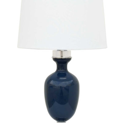 Picture of Navy Glass Table Lamp