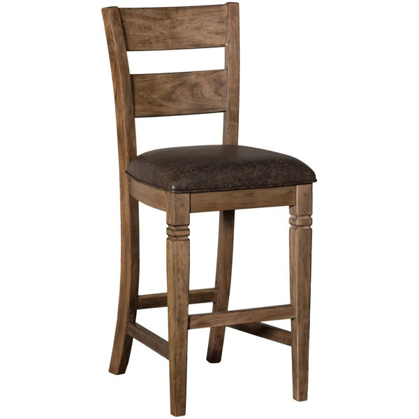 """Picture of Doe Valley 30"""" Barstool with back seat cushion"""