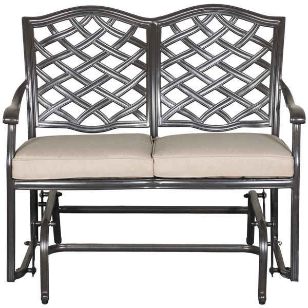 Picture of Halston Patio Glider Loveseat with Cushions