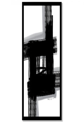Picture of Framed Black Grey White Abstract
