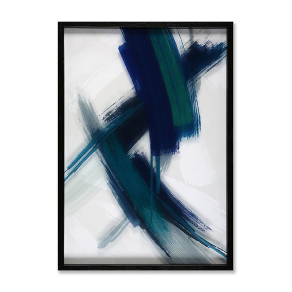 Picture of Green Blue Abstract on Glass