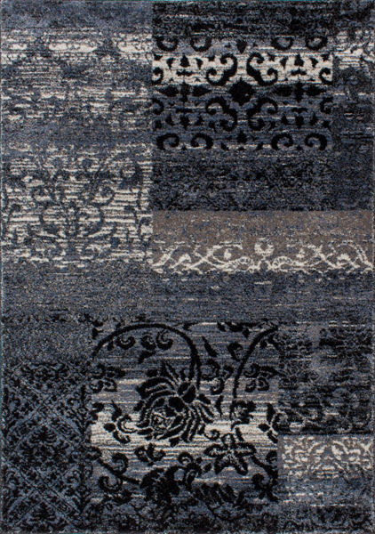Picture of Breeze Blue Patchwork 5x8 Rug
