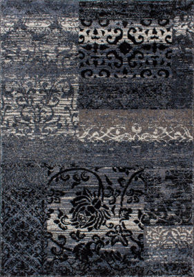 Picture of Breeze Blue Patchwork 8x10 Rug