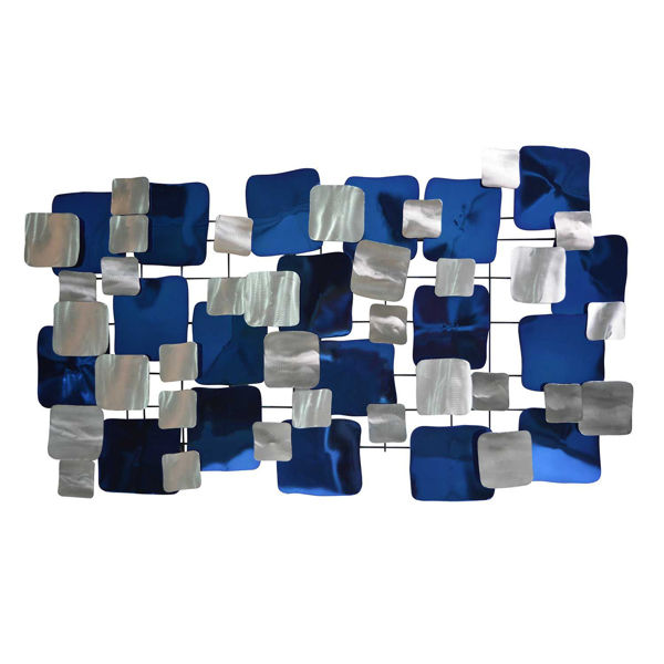 Picture of Blue Metal Wall Decor