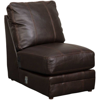 Picture of Denali Italian Chocolate Leather Armless Chair