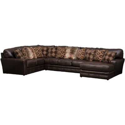 Picture of Denali 3PC Chocolate Sectional w/ RAF Chaise