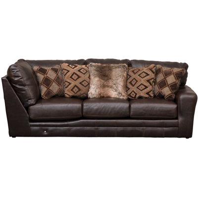 Picture of Denali Italian Chocolate Leather RAF Sofa