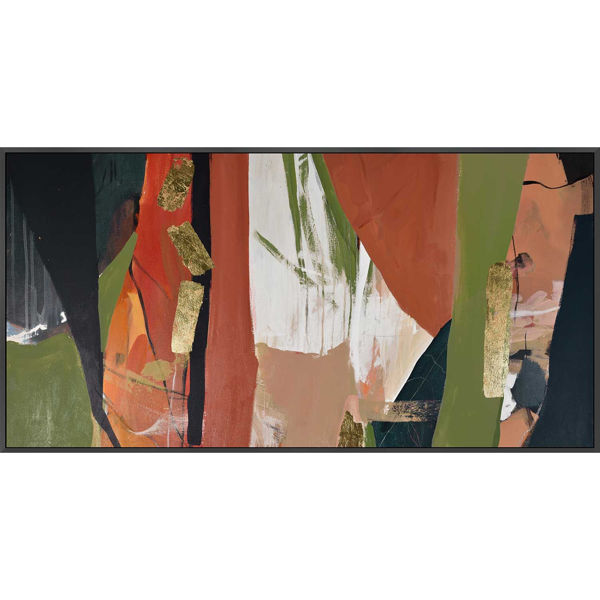 Picture of Framed Green Cinn Abstract