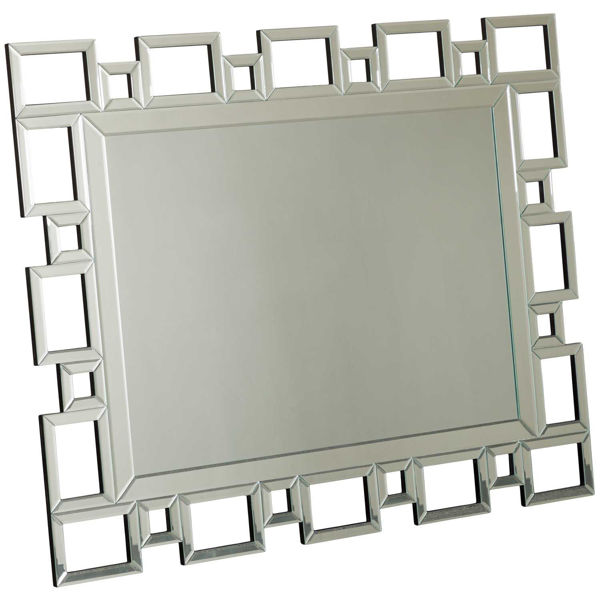 Picture of Geometric Silver Mirror