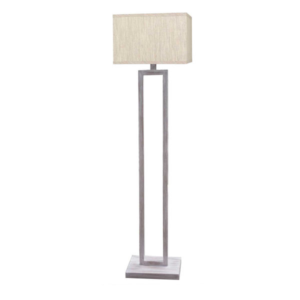 Picture of White Wash Metal Floor Lamp