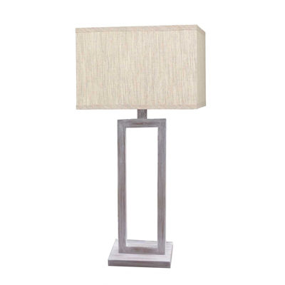 Picture of White Wash Metal Table Lamp