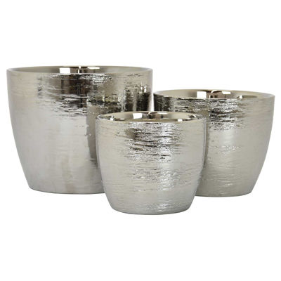 Picture of Set of 3 Silver Planters