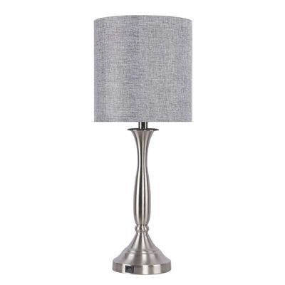 Picture of Nickel with USB Port Table Lamp