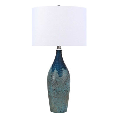 Picture of Turquoise Art Glass Table Lamp
