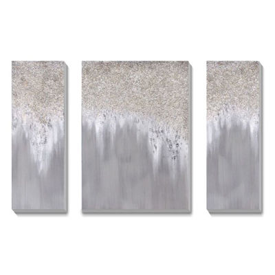 Picture of Set of 3 Hand Painted Glitter Art