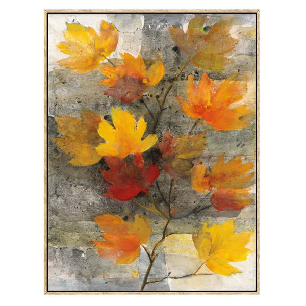 Picture of Yellow Embel Flowers Light Frame