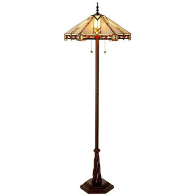 """Picture of 23"""" Trident Way Tiffany Floor Lamp"""