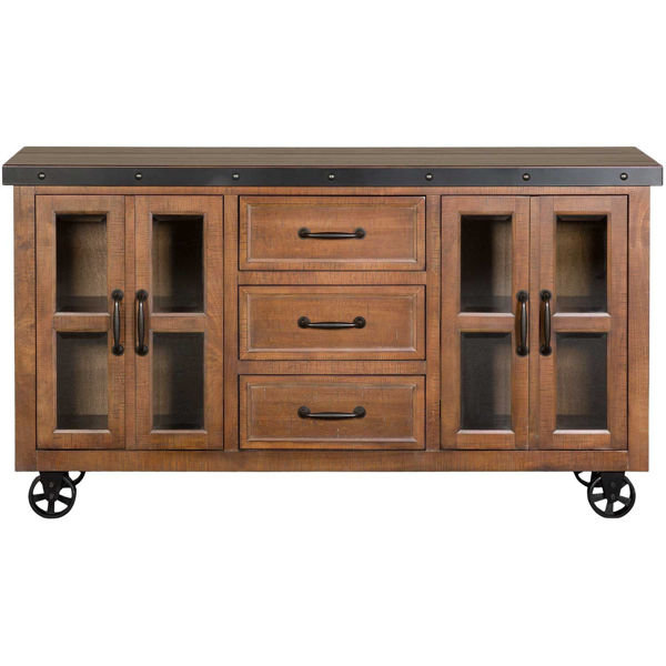 """Picture of 70"""" Brown Console"""