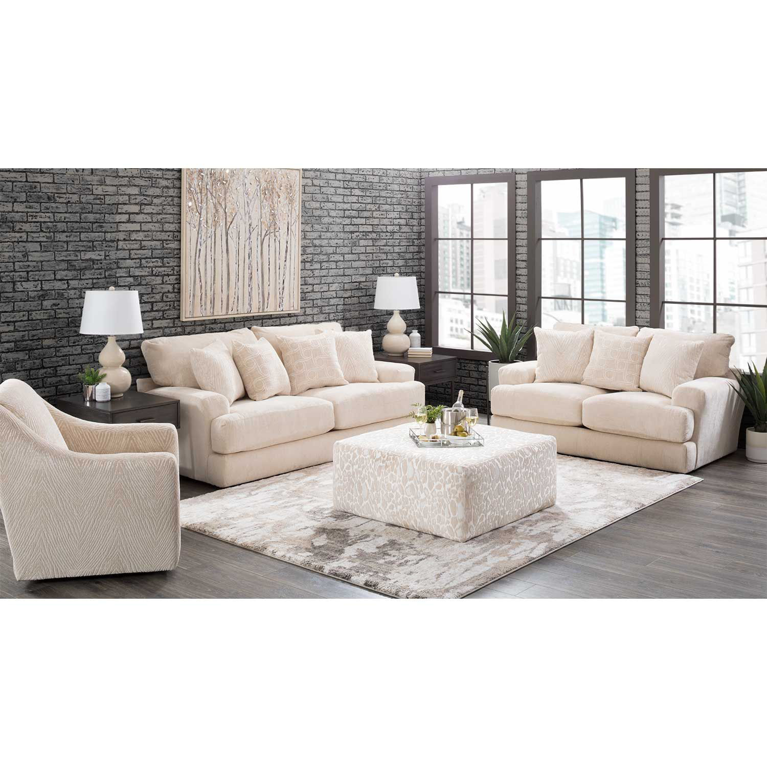 Picture of Lamar Cream Loveseat