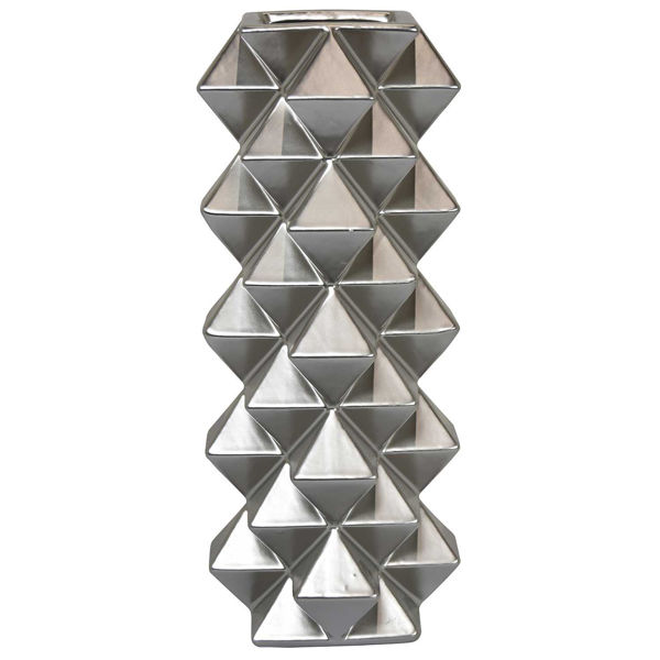 Picture of Silver Vase With Textural Design