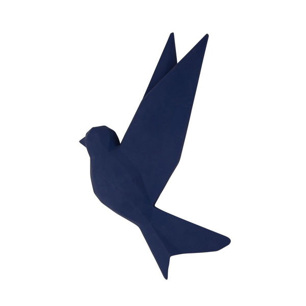 Picture of Origami Bird Wall Decor Navy