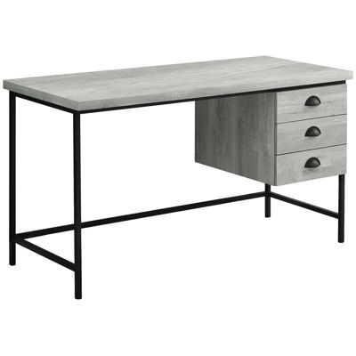 "Picture of Gray 55"" Computer Desk"