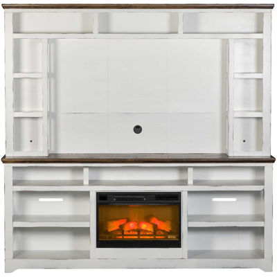 "Picture of Qatar 84"" Fireplace & Hutch"