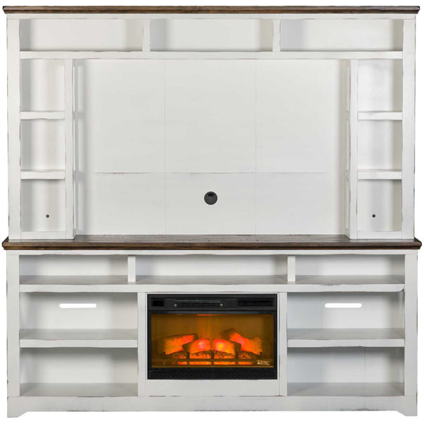 """Picture of Qatar 84"""" Fireplace & Hutch"""