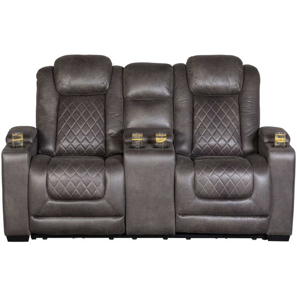 Picture of HyllMont P2 Reclining Console Loveseat
