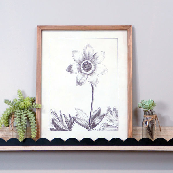 Picture of Wood Framed Flower