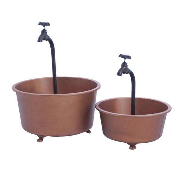 Picture of Set 2 Copper Color Planters