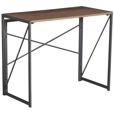 Picture of Black Metal Tall Computer Desk