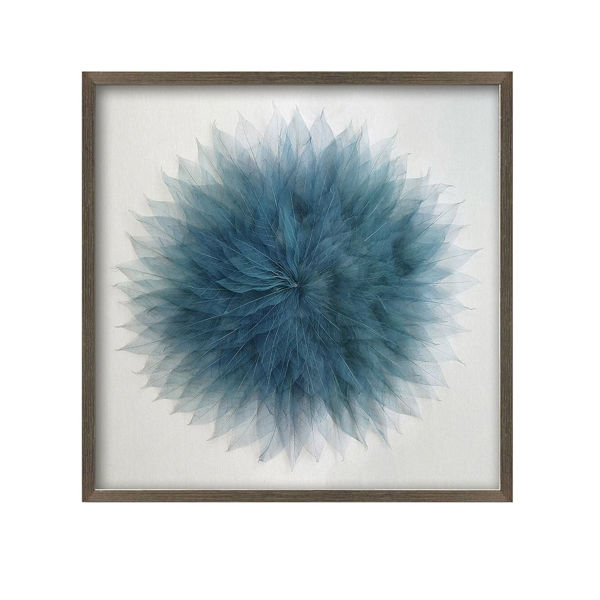 Picture of Blue Leaves Framed