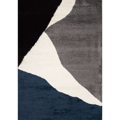Picture of Maroq Navy Grey Ivory 5x8 Rug