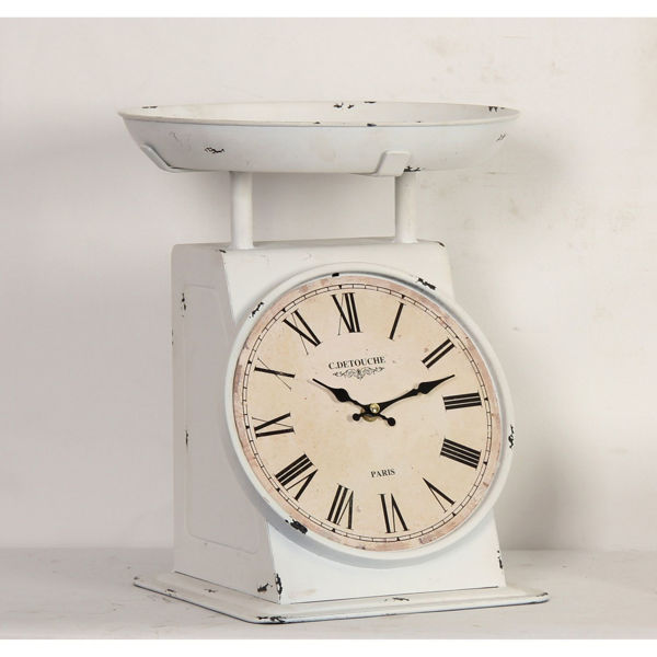 Picture of White Iron Table Clock