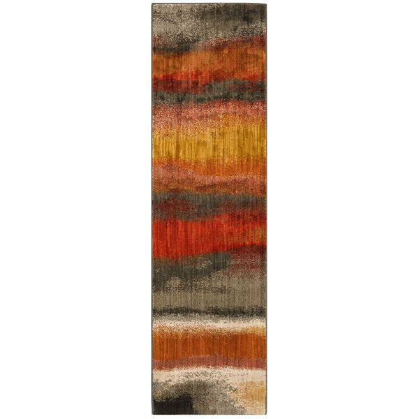 Picture of Odin Rust Multi 2x7 Rug