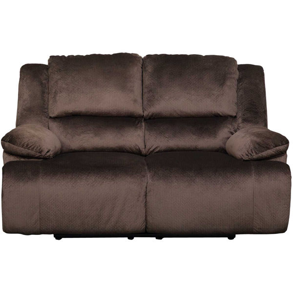 Picture of Clonmel Chocolate Reclining Loveseat
