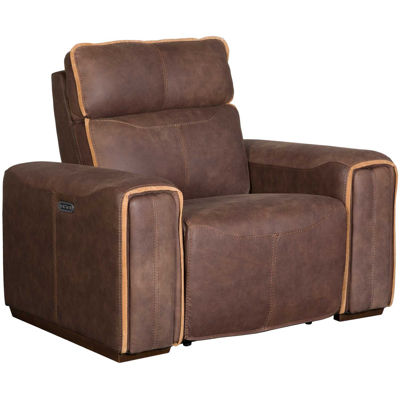 Picture of Italian Leather Power Recliner with Adjustable Hea