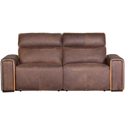 Picture of Italian Leather Power Recline Sofa with Adjustable