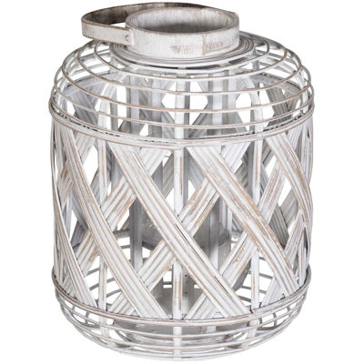 Picture of White Natural Lantern