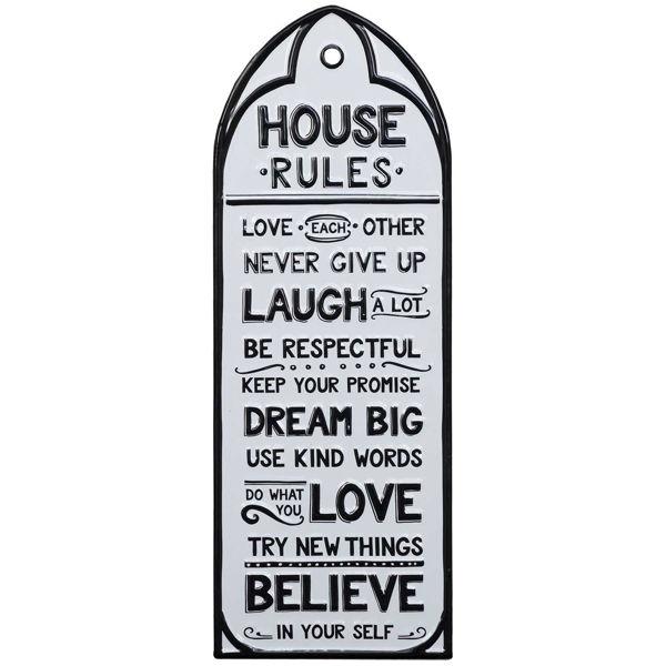 Picture of White Metal House Rules