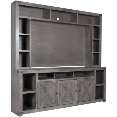 Picture of Urban Farmhouse 84-Inch Console & Hutch in Smoky Grey