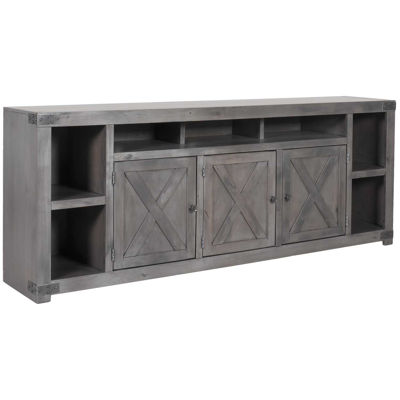 Picture of Urban Farmhouse 84-Inch TV Console, Smoky Grey