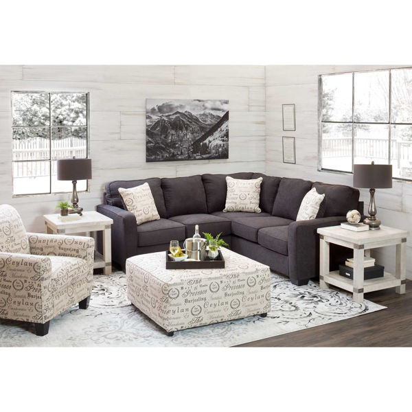 Picture of Aleyna Charcoal Sectional with LAF Sofa