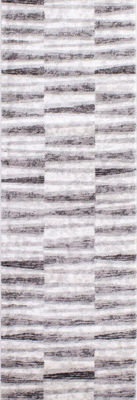 Picture of Chorus Grey White Geometric 2x8 Rug