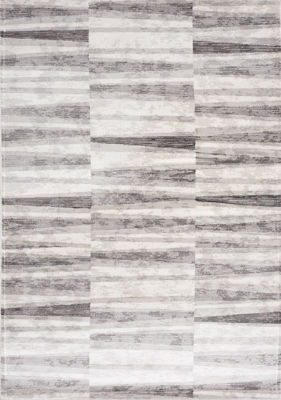 Picture of Chorus Grey White Geometric 5x8 Rug