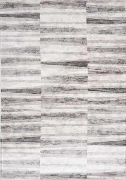 Picture of Chorus Grey White Geometric 5x8 Rug