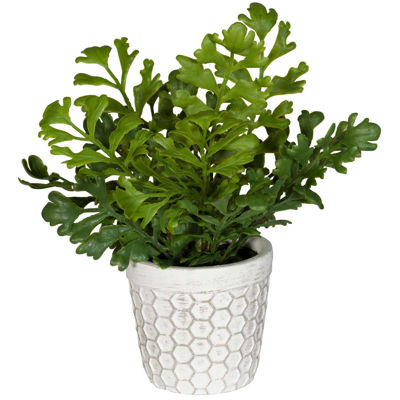 Picture of Leaves In Round Patterned Vase