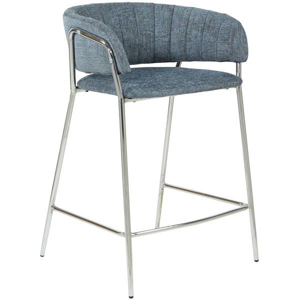 """Picture of Grant 26"""" Barstool Navy Fabric"""